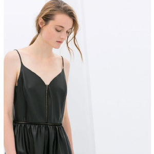 Zara Faux Leather Mini Dress